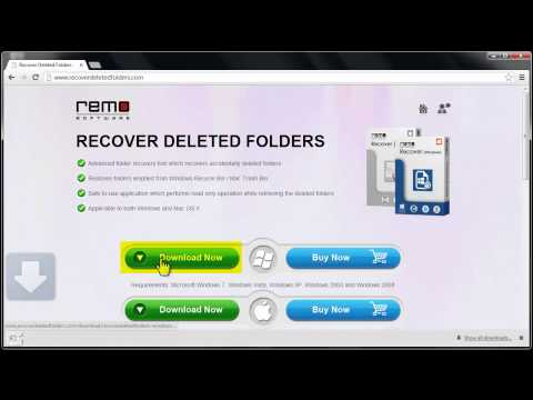 Recover Folders Deleted from Recycle Bin