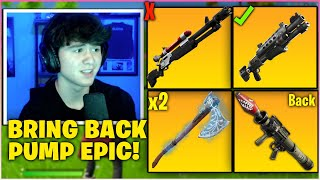 BUGHA Uses NEW BUFFED PICKAXE & PROVES TACS Are Better Than Charge Shotgun While Playing Arena!