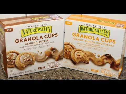 Nature Valley Granola Cups: Almond Butter and Peanut Butter Chocolate Review