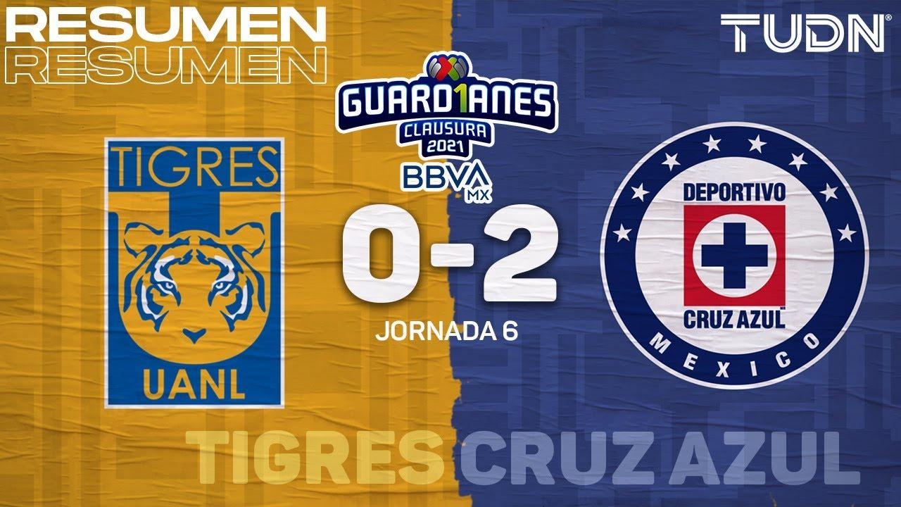 Resumen y goles | Tigres 0-2 Cruz Azul | Torneo Guard1anes 2021 MX J6 | TUDN