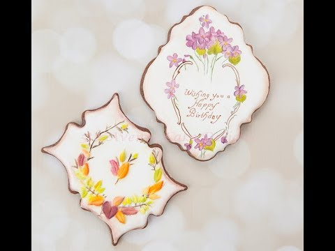 How to Decorate Dimensional Vintage Birthday Cookies 🎁🌼🍂