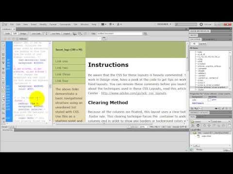Dreamweaver CSS Website Layouts