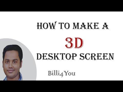 How To Make A 3D Desktop Screen - Rainmeter - Desktop Customization - 3D Theme. Part 1 Hindi/Urdu