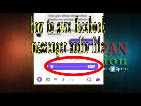 how to save facebook messenger audio file ( 2017 updated )