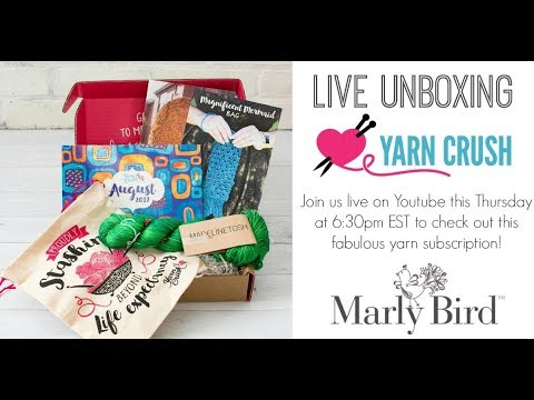 Unboxing of Yarn Crush with Marly Bird and Katelyn.