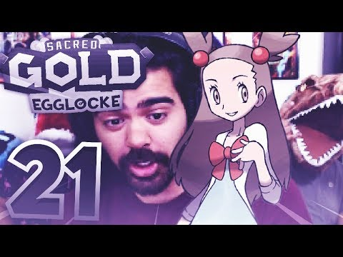 VS JASMINE and recoil damage | Pokemon Sacred Gold Egglocke w/ TheHeatedMo, TheKingNappy & Twit - 21