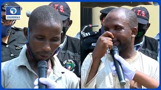 Police Parade Suspects Who Disguise As Old Women, Men To Defraud Victims