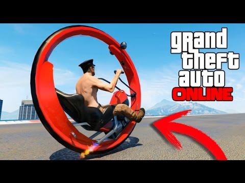 INCREIBLE MOTO CON UNA SOLA RUEDA EN GTA 5 ONLINE !! GTA V MODS PC Makiman