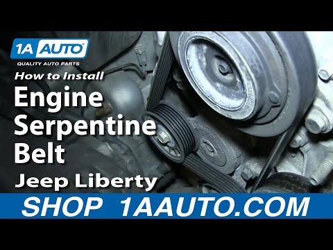 How To Install Replace Engine Serpentine Belt Jeep Liberty