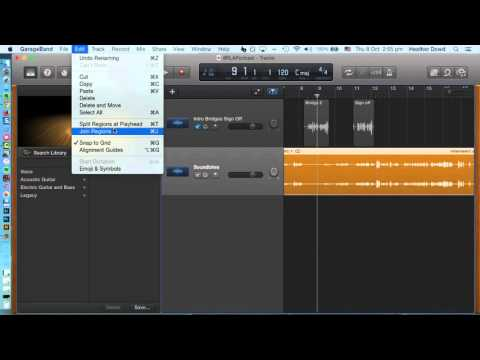 How to add and trim audio in GarageBand
