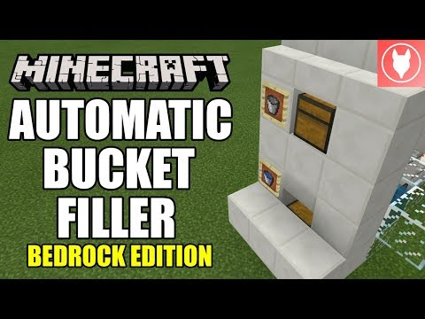 Minecraft Bedrock - Automatic Bucket Filler Tutorial ( Xbox / MCPE / Windows 10 )