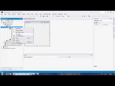 Creating SLQCe Database And Table in Visual Studio 2012