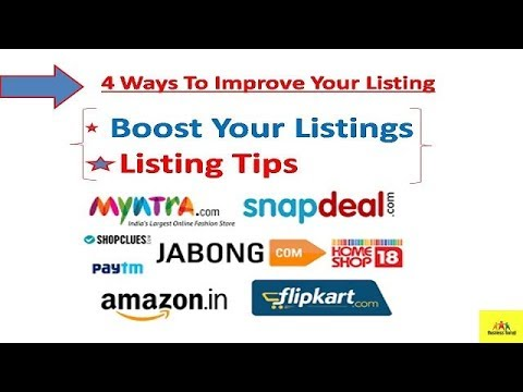 4 Ways To Improve Your Listing !Product listing !Boost Your Listings !Listing Tips for online seller