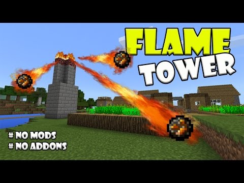 Working FLAME TOWER !!! Minecraft PE (Pocket Edition) MCPE