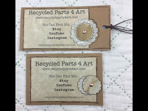 (Recycled Art) How To Make Business Cards Using Pages on a Mac