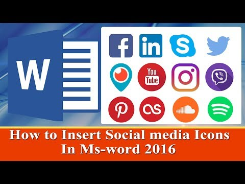 How to insert social media icons in Resume ms word 2016 tutorials