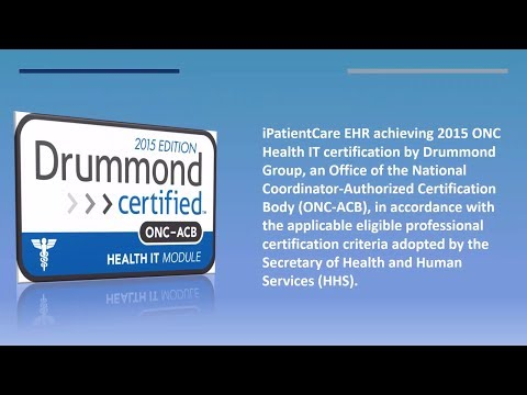 iPatientCare EHR  Receives 2015 ONC HIT Certification