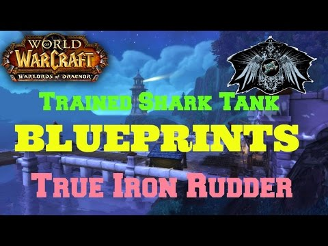 How to get True Iron Rudder and Trained Shark Tank [BLUEPRINTS]
