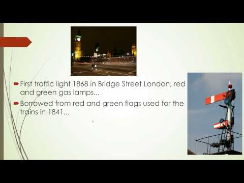 Why does red mean stop for traffic lights?