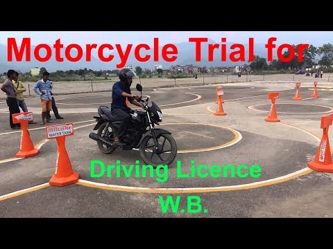 Motorcycle trial for driving licence in India