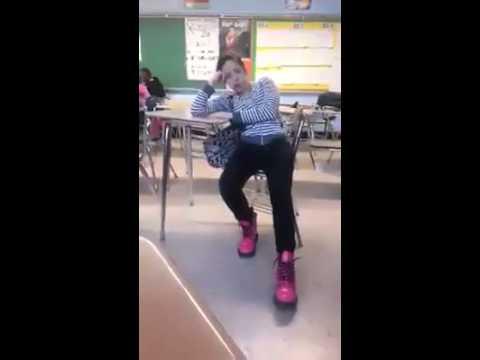 Girl Falls Asleep In The Classroom