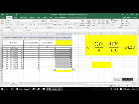 Calculating the arithmetic mean