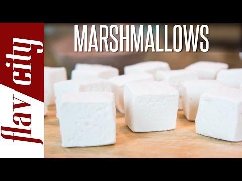 Homemade Marshmallow Recipe - How To Make Marshmallows - FlavCity with Bobby