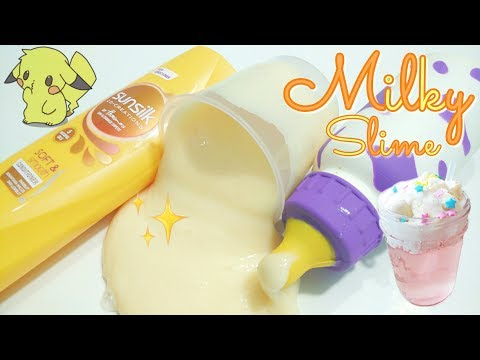 How to make milky slime with conditioner!