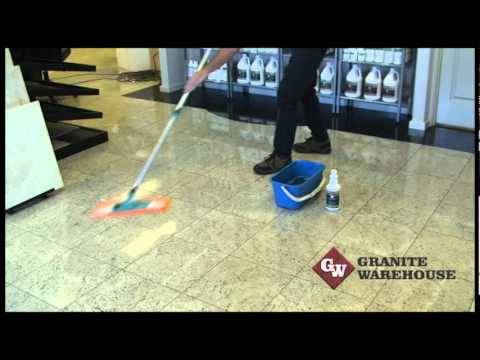 How to clean Marble, Granite & Travertine, honed or polished floors - MB Stoncare MB1