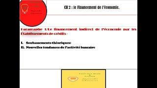 Financement de l'économie (partie  2)