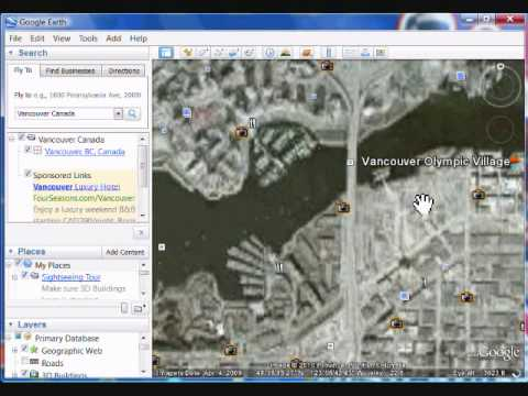 Using Google Earth and Finding Vancouver, Canada