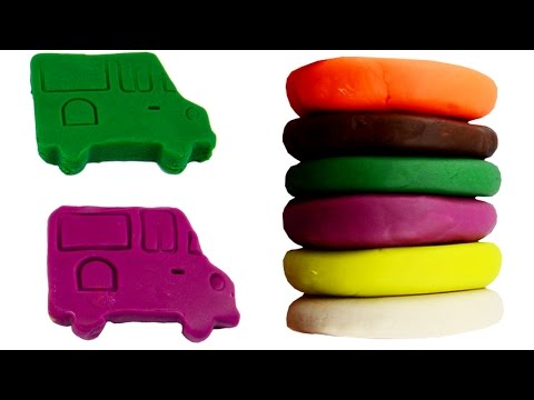 Learn Colors With Cars For Children Play Doh Stop Motion Creative Rainbow Cake