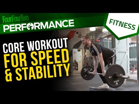 Gym workout | How to build a stronger core to run faster | Soccer conditioning