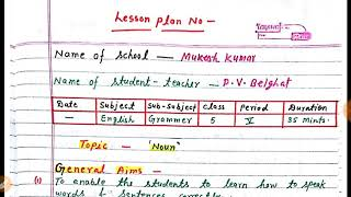 B ed lesson plan 4 for math teaching in hindi - The Most