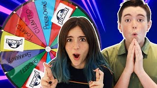 SPIN The Mystery Wheel & EAT Whatever It Lands On!!