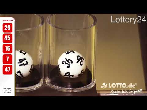 2018 05 23 German lotto 6 aus 49 numbers and draw results