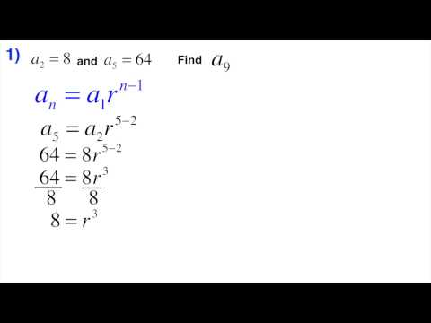 Geometric sequence find the nth term with 2 random terms provided
