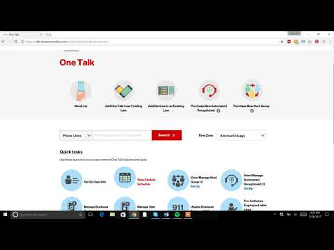 Verizon One Talk Portal Walk Through