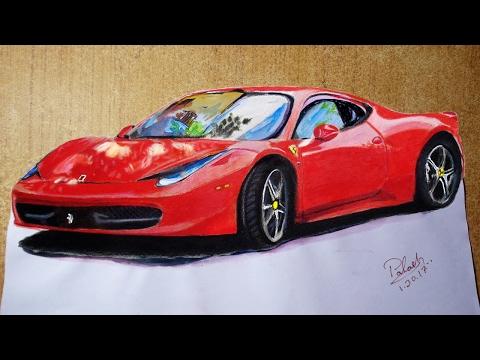 Draw a Sports Car : 3d Trick Art on Paper