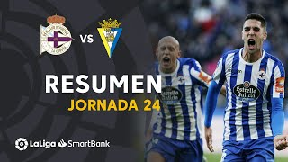 Resumen de RC Deportivo vs Cádiz CF (1-0)