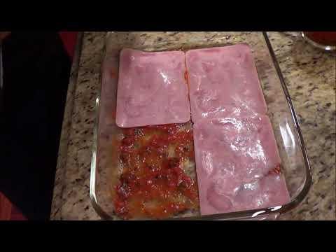 Low Carb Lasagna with Ham Slices