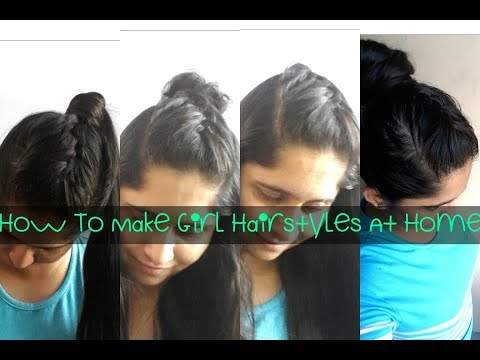 How To Make Hairstyle For Girls At Home/French Braided Front♡2017 Fashion