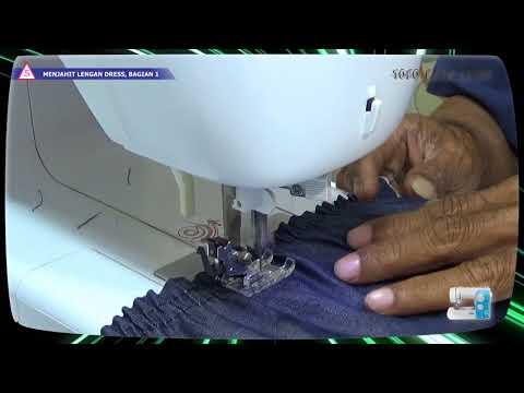 Cara membuat pola dan menjahit baju blus wanita sederhana menggunakan mesin jahit portable BAGIAN 2