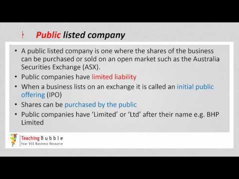 VCE Business Management - Companies