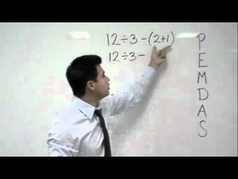 Algebra: PEMDAS order of operations