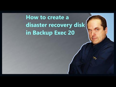 How to create a disaster recovery disk in Backup Exec 20