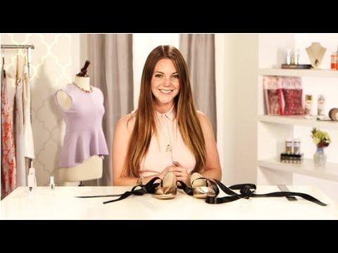 DIY Fashion, Ballet Flats With Ribbon, Fab Flash