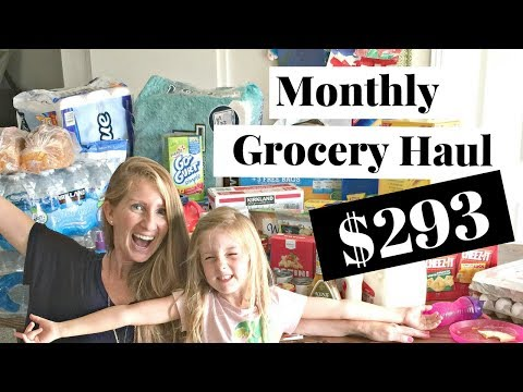 $293 Monthly Grocery Haul August 2017 | Target & Costco Grocery Haul