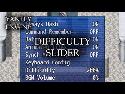 YEP.147 - Difficulty Slider - RPG Maker MV