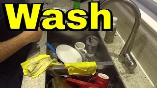 How To Hand Wash Dishes-FULL Tutorial